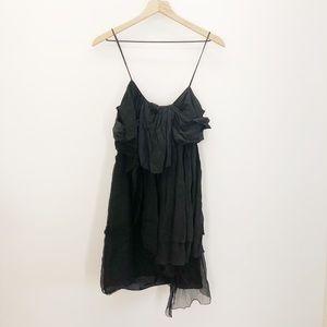 Leon Max Black Silk Dress/Top Size Large